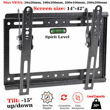 "TV Wall Mount Bracket Tilt Slim For 14 18 20 24 30 32 42"" Inch 3D LED LCD Plasma"