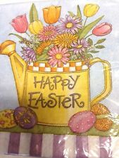 20 Ct Paper Lunch Napkins Happy Easter 12-7/8 x 12-3/4 Inch Multi Color New