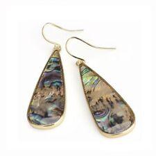 Abalone Shell Costume Earrings
