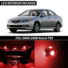 2004-2008 Acura TSX Red Interior LED Lights Package Kit