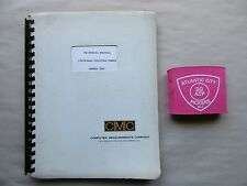 Cmc Model 726C Universal Counter-Timer Technical Manual 33A1-10-86-1