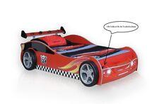 Autobett Turbo V4 90x190cm rot Rennwagen Kinderbett mit LED Auslaufmodell