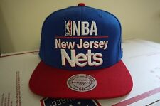 fff40bb6fa1 Authentic New Jersey Nets Snapback Mitchell   Ness Adjustable Fit Blue Red  New