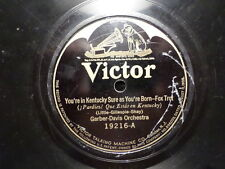 VICTOR 78 RECORD 19216/GARBER-DAVIS/YOU'RE IN KENTUCKY SURE/THAT BRAN NEW GAL/VG