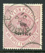 Ceylon 1895 Official 1r.12 Wmk Upright SGO17b FU