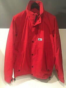 Mountain Equipment Co-op Gore-Tex Hooded Waterproof Jacket Red Men's Medium