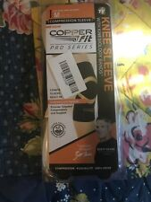 Copper Fit Pro Series Compression Knee Sleeve Size Medium Black