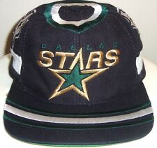 VINTAGE 90's DALLAS STARS NHL TWINS SNAPBACK HAT (GREEN UNDER BRIM) RARE!