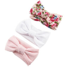 3pcs Newborn Baby hairband Hair Accessories Headband Ribbon Elastic Band Bow