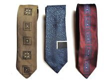 3 cravates pop rock fashion - vintage -(TREVIRA, .... , TERYLENE