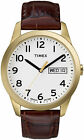Timex T2N065, Men's Easy Reader Leather Watch, Indiglo, Day/Date, T2N0659J