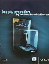 Publicité Advertising 2001  OPEL CORSA boite easytronic pour plus de sensations