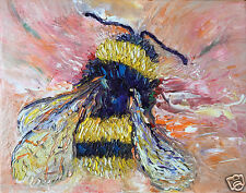 "Bumble Bee 8""x10"" oil painting print Framable Signed Art NEW by Artist Van Nes"