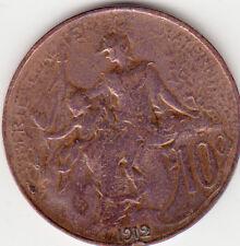 PIECE MONNAIE FRANCE 10 Centimes 1912 DANIEL-DUPUIS état voir scan