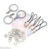 Fuse Bead Finding Accessory Set - Key Rings - mini loop mobile holder