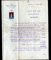 """CARMAUX (81) TRAVAUX en BATIMENT """"MINES DE CARMAUX"""" en 1931"""