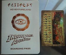 1995 INDIANA JONES ADVENTURE OPENING DECODER AND AP PARTY BOARDING PASS - MINT