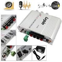 New 2.1 Lvpin Mini Hi-Fi Amplifier Amp Stereo Radio MP3 200W 12V For Car Home