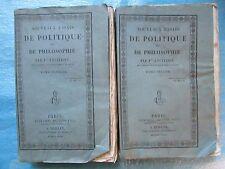ANCILLON : NOUVEAUX ESSAIS DE POLITIQUE ET DE PHILOSOPHIE, 1824. 2 vol. complet