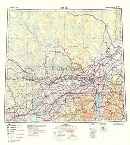 Soviet Russian Topographic Map OTTAWA, CANADA 1:1M Ed.1949 REPRINT #F1