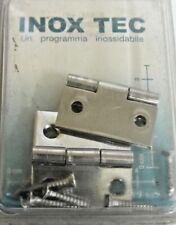INOXTEC 2 cerniere cerniera quadre spessore 1 mm acciaio inox con viti 14x30