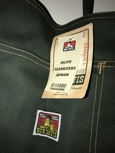 Ben Davis Worker's Utility Olive Teamster's Apron - One Size USA made Mechanic