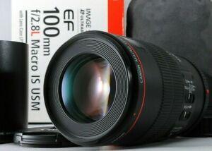 [Mint in Box] Canon MACRO EF 100mm f/2.8 L IS USM w/ Hood ET-73, Pouch LP1219