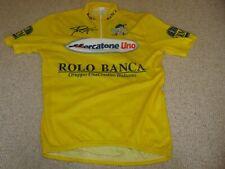 Marco Pantani Mercatone Uno Yellow cycling fan jersey [6] New