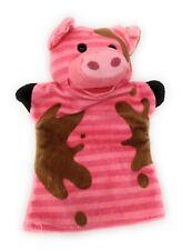 "Hand Puppet Melissa & Doug Farm Friends Pig Toy 7"" x 9"""