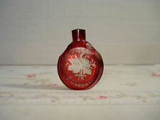 Petit Flacon Souvenir Cristal de Bohême  - Antique miniature Scent Bottle