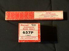 Starrett 657p Magnetic Base Amp Starrett 657f Indicator Swivel Post Assembly