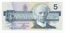 1986 Bank of Canada $5 - END Prefix BC-56a - Cat. $35 - SALE