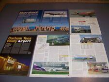 VINTAGE..AIRPORT: MARRAKECH-MENARA INT. & DURHAM TEES VALLEY  ...RARE! (437Q)