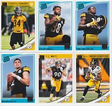 2018 PITTSBURGH STEELERS 40 Card Lot w/ DONRUSS Team Set 26 CURRENT Players 4 RC