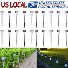 20 Outdoor Solar Power Lights Garden Pathway Landscape LED Lighting Yard Lamp