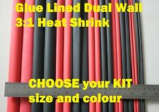 Kits from $15  WATERPROOF Adhesive Dual Wall Glue Lined heat shrink tube joiner