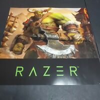 """World Of Warcraft 3 Reforged Rare Poster Promo Gamestop Double Sided 24""""x24"""""""