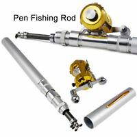 Telescopic Mini Portable Pocket Fish Pen Fishing Rod Pole Reel Aluminum Alloy