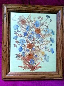 VINTAGE - AUSTRIA Dried Pressed Flowers - Framed