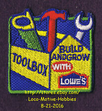 LMH PATCH Badge  2006 TOOLBOX Tool Box Holder Kit  LOWES Build Grow Kids Clinic