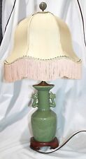 Antique Chinese LONGQUAN CELADON Glazed Porcelain Vase Lamp