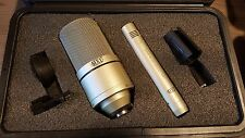 MXL 990/991 Professional Condenser Microphone Set with Case- USED