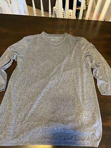 Men's Under Armour Threadborne Heatgear Blue Athletic  BaseShirt Size Large