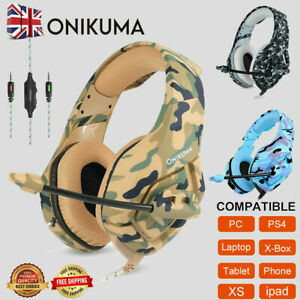 K1 3.5mm Camouflage Mic Gaming Headset For PC Laptop PS4 Xbox One