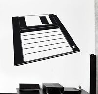 Wall Sticker Vinyl Decal IT PC Retro Computer Diskette Internet Geek (ig1197)