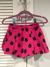 NEW BABY GAP DOT PLEATED SKIRT POLKA DOTS GIRLS 2T 2 YEARS MULBERRY PINK VELOUR