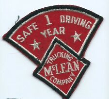 McLean Trucking Company 1 year safe driving driver patch 3-1/2 X 3-3/4 #1921