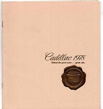 CADILLAC 1978 mercato USA formato più piccolo opuscolo Deville Eldorado Fleetwood