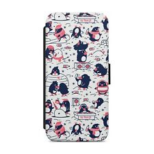 Cute Penguin Pattern WALLET FLIP PHONE CASE COVER FOR iPhone Samsung Huawei  z81