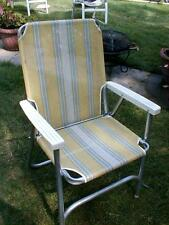Vintage multicolor Aluminum fabric Folding Lawn Chair Beach Camping Retro Patio